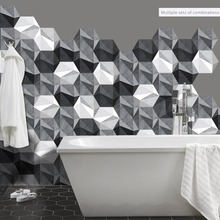Funlife Floor Sticker  Anti-Slip DIY Black and White Gray Abstract Self-adhesive Wall Waterproof for Bedroom DB108