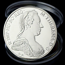 Hungary Queen Teresia Copy Coins Of The Great Austro Hungarian Empire Sliver Plated Coins Collectibles(China)