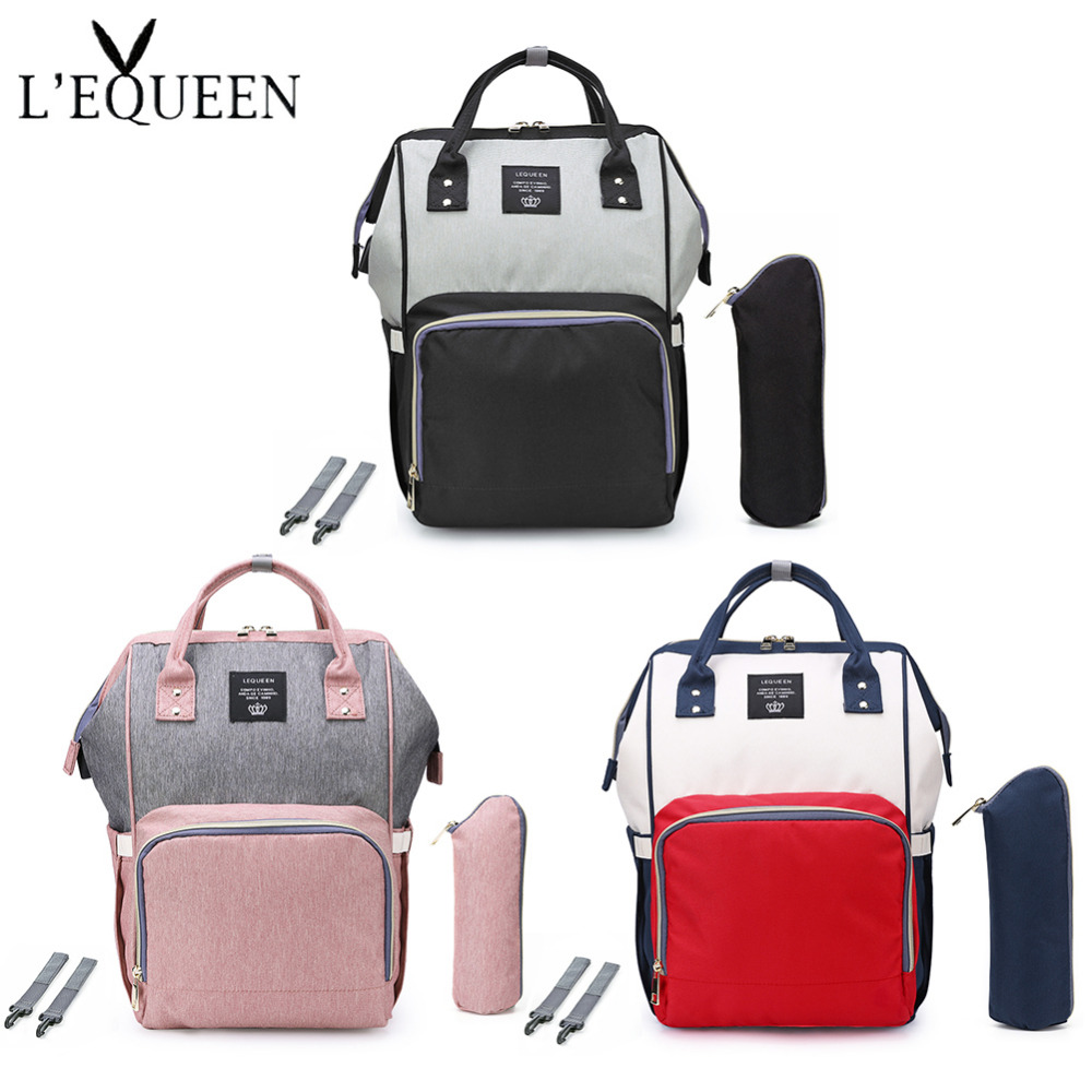 LEQUEEN Large Capacity Mummy Maternity Nappy Bag Protable Baby Diaper Bag Infant Nursing Stroller Handbag Baby Bag Baby Care