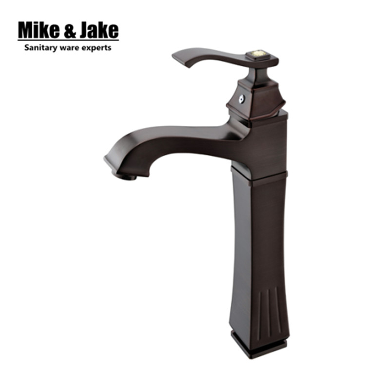 ORB Black brushed basin faucet waterfall Black nickel High faucet bathroom sink tap cold and hot mixer tap tall basin mixer tap new arrivals chrome waterfall faucet tall bathroom faucet bathroom basin mixer sink tap with hot and cold sink faucet