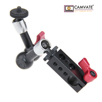 CAMVATE 7 Articulating Magic Arm 15mm Single Rod Clamp fr DSLR Camera LED Light Monitor C1100 camera photography accessories