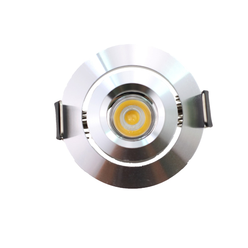 10PCS Hot Sale Adjustable Mini Spot LED Ceiling Recessed Downlight Aluminium 3W AC90-260V Home Under Cabinet Lights Cutout 41mm