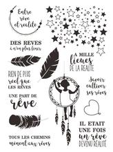 DES REVES Dream Transparent Clear Silicone  French Stamp Seal  DIY Scrapbooking photo Album Decorative