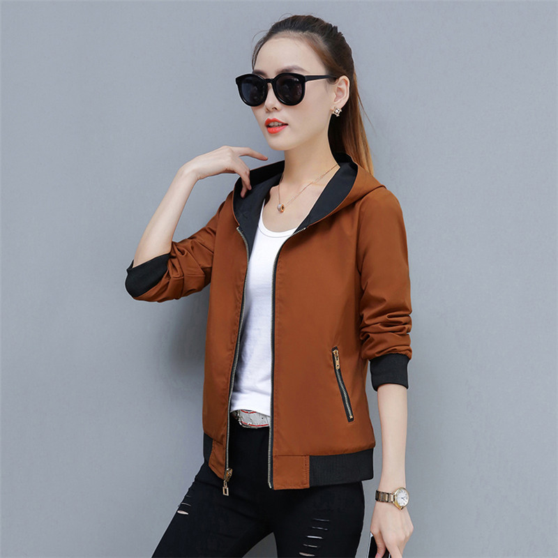 2019 Spring Autumn Large Size New Short Jacket Women Fashion Joker Female Jackets Tops Double-Sided Wear Outwear Tide TTT157 41