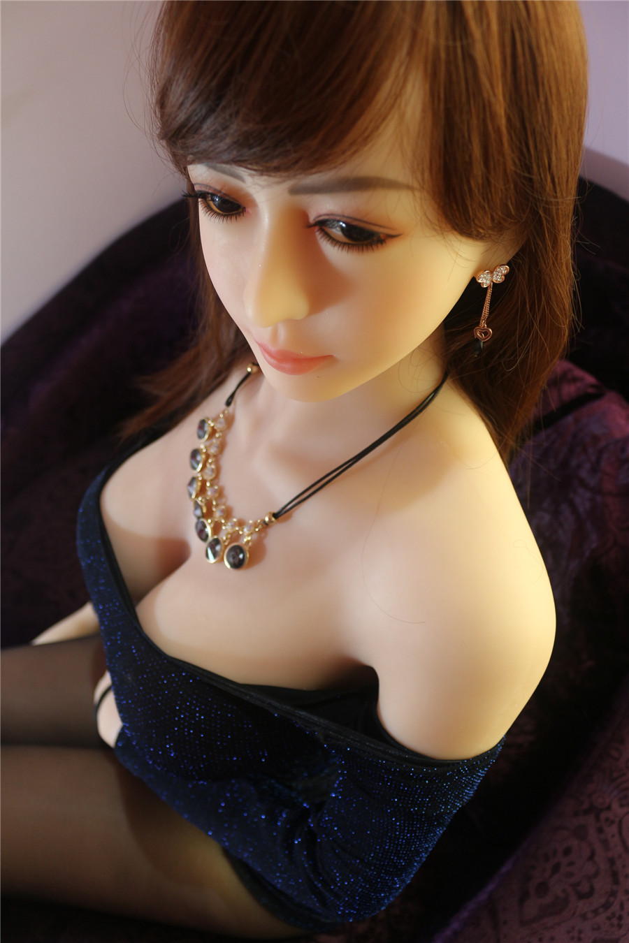 Pinklover 158cm Japanese full silicone realistic sex doll for men oral/vagina/anal,Lifelike big breast female sexy doll for men