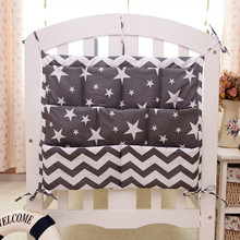 60*50 CM Baby Bedding Sets Cot Hanging Storage Bag Printed Cotton Baby Bedding Bottles Diaper Sundries Multilayer Pockets Bag