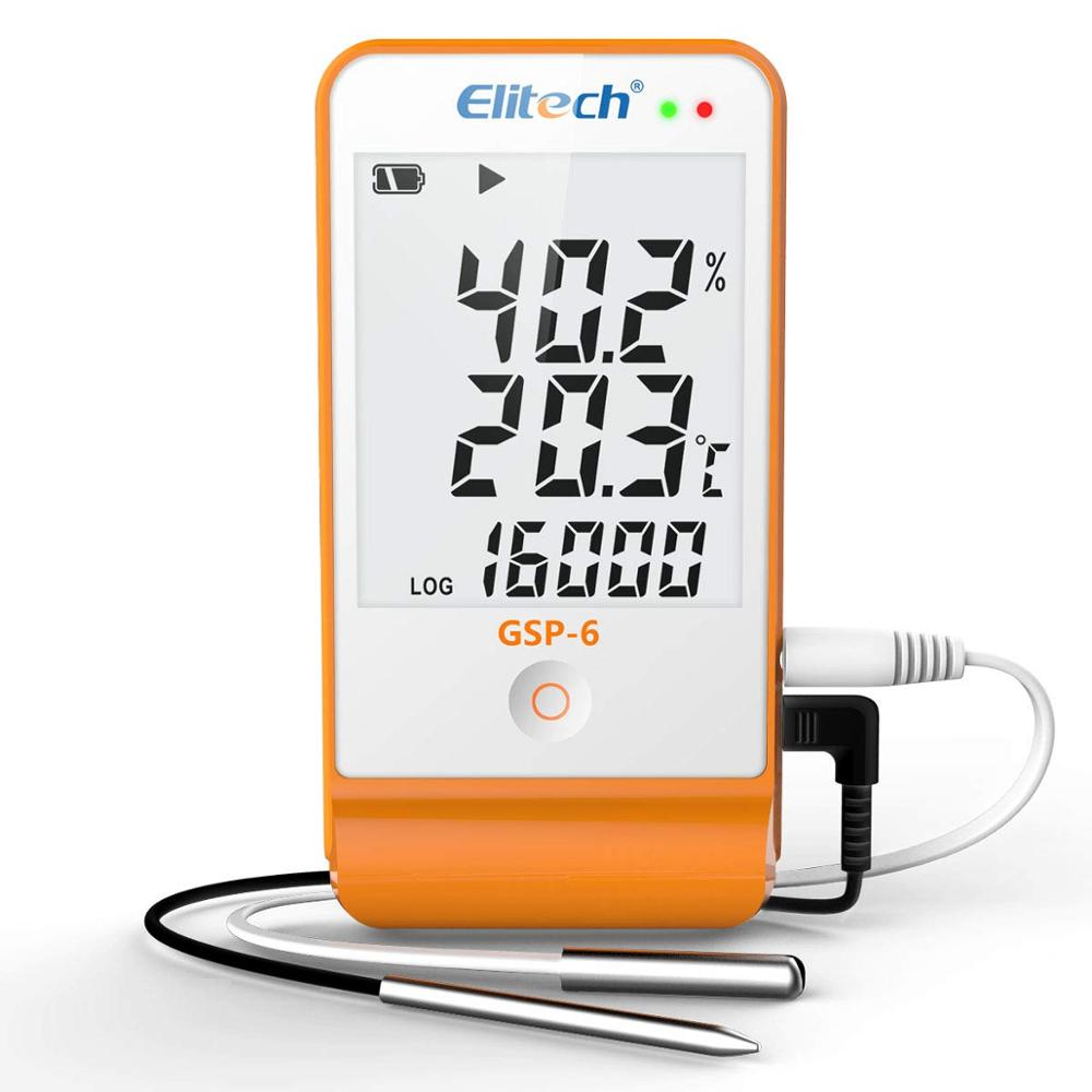 Elitech GSP 6 Temperature and Humidity Data Logger Recorder 16000 Points Refrigeration Cold Chain