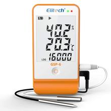 Elitech GSP-6 Temperature and Humidity Data Logger Recorder 16000 Points Refrigeration Cold Chain temperature and humidity loggers usb temperature recording warehouse greenhouse pharmacy precision gsp 1600 large capacit