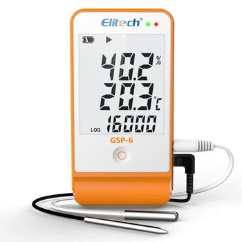 Elitech GSP-6 Temperature and Humidity Data Logger Recorder 16000 Points Refrigeration Cold Chain bside bth02 waterproof two channel temperature humidity dew point data logger with usb interface page 1 page 4