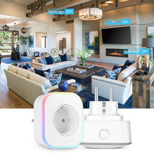 Enchufe inteligente UK UE Wifi Smart Socket remoto/Control de voz Control temporizador interruptor por Google Home Mini Alexa IFTTT(China)
