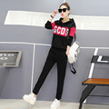 2017 Women Suits 2 Pieces Women Tracksuit Solid Sweat Shirt Trousers Casual Sportwear Suit Sweat Women Clothes Long Sleeve Suits
