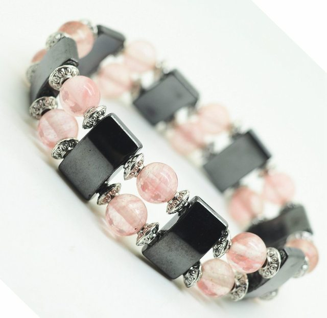 Health Care Magnetic Hematite Stretch Bracelet