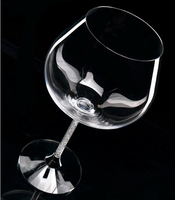 Tazas Whiskey Glas Set 2 Stks Glaswerk 650 ml Kristallen Rhinestone Stem Voor Party Bruiloft Fabriek Groothandel Dropshipping Oh13259
