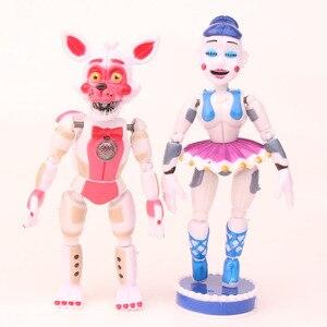Image 3 - Figuras de acción de FNAF Five Nights at freddys, juguetes móviles de PVC, juguetes de 10 16cm, juego de 5 unidades