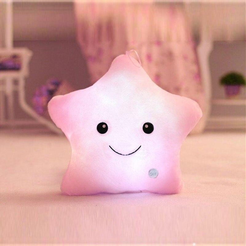 HTB1IK0qbLWG3KVjSZFgq6zTspXaQ LREA beautiful cojines Colorful Stars Luminous cushion Led Light plush toy pillow Hot sale
