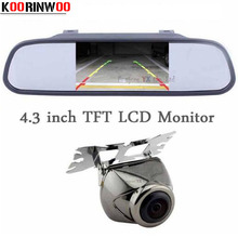 Koorinwoo Universal 4.3 Color Tft Mirror monitor CCD Car Rear View reverse camera for Ford/Audi/Hyundai all car Parking System