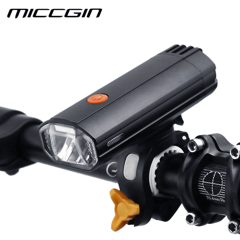 Bike Cut-off Lines 4000mAH Bicycle Light Powerbank 600LM LED Headlight Cycling Waterproof Lamp USB Rechargeable Light MICCGIN