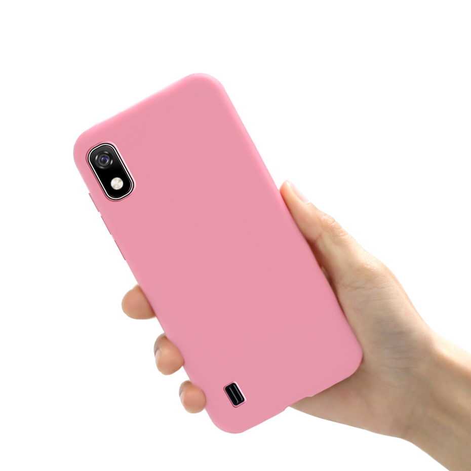 Soft Silicone Matte Bumper Coque Phone Cover TPU Cases For Funda Samsung A 10 A10 4