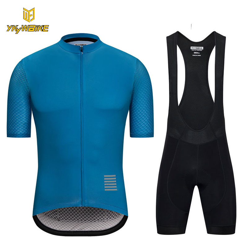 цена на YKYWBIKE 2018 Cycling Jersey Sets Summer High Quality MTB Outdoor Bicycle Sport Wear Maillot Ciclismo Short Sleeve Cycling Set