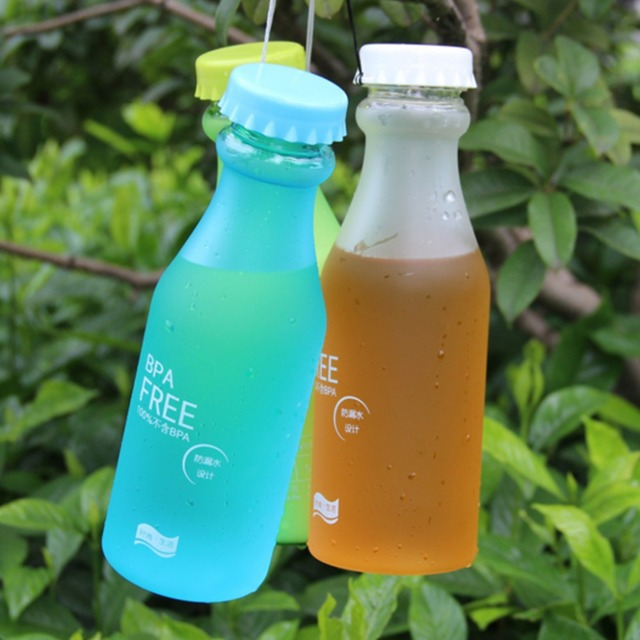 550mL High Quality BPA Plastic Frosted Leak-proof Portable Water Bottle for Outdoor Sport Running Camping