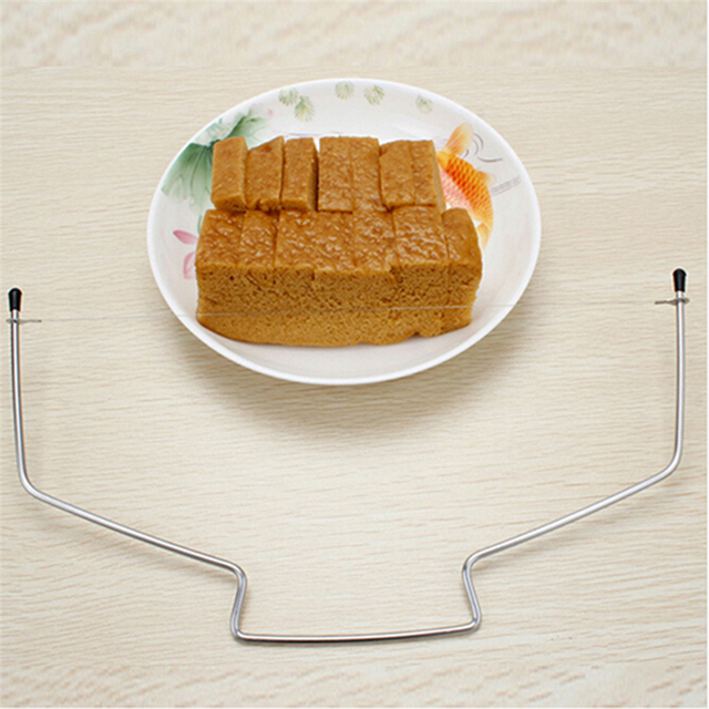 10 Inch Cake Slicing Knife DIY Stainless Steel Double Line Adjustable Butter Butter Bread Cake Cutter Home Kitchen Baking Tools