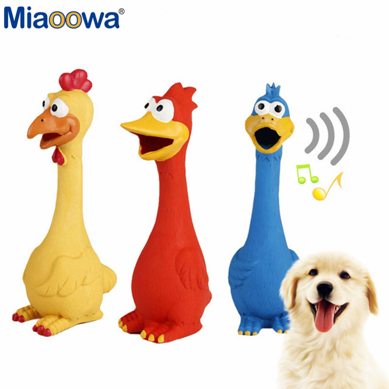 1Pc 28cm Screaming Funny Chicken Toy Dogs Puppy Cat Animal Chews Squeaky Sound Toys Plas ...
