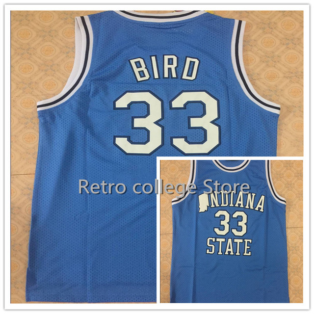 491abe108492 ... indiana state sycamores larry bird 33 retro throwback stitched  embroidery college basketball jersey