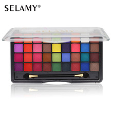 Art Color Collection Selamy Pro 3D Matte Eyeshadow Palette Nude Makeup Set 36 Color Shimmer Eye Shadow With Double Ended Brush