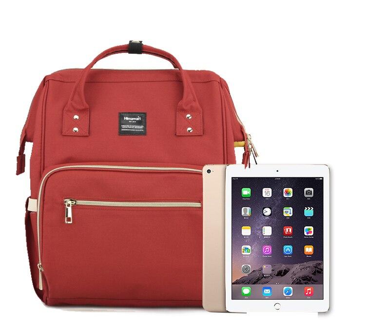 Image 5 - Himawari классическая сумка для подгузников, модные женские дорожные рюкзаки для ноутбука, большая емкость, сумка для подгузников для мам, сумка для подгузников Bolsa Maternidade-in Рюкзаки from Багаж и сумки