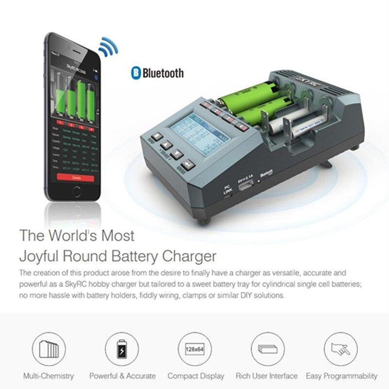 Chargeur de batterie universel Bluetooth SkyRC MC3000 18650 avec analyseur de écran LED pour batterie Ni-MH Lilo NiZn Nicd AAA RC - 6