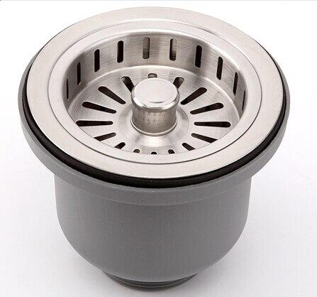 304 stainless steel sink drainer filter basket kitchen waste plug filter hair strainer catcher free shipping
