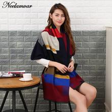 2016 Women Autumn Winter cashmere tartan plaid thick scarves geometric patterns blanket shawl pashmina wrap stole Lady Girl