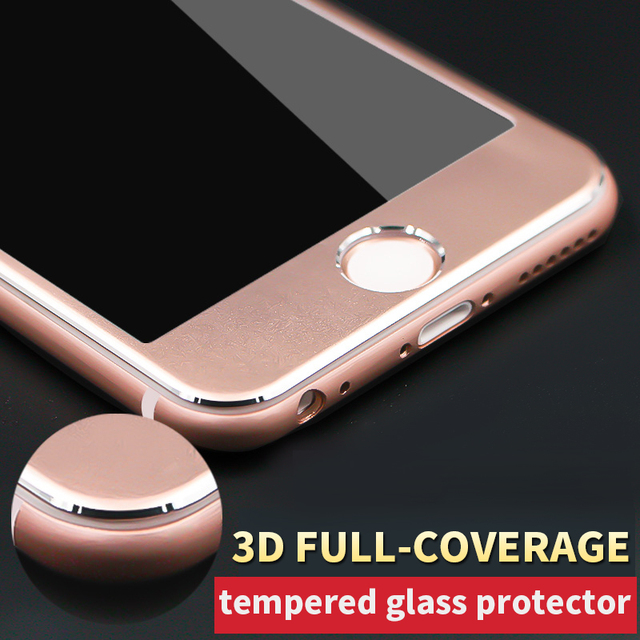 newest 68559 dd6b1 US $2.36 |Pink Color Tempered Glass Screen Protector For iPhone 3D Curved  Edge Full Screen Coverage 4.7
