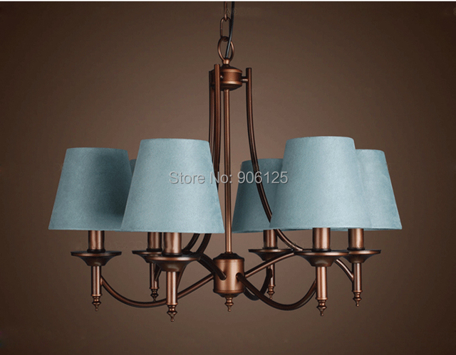 Nordic modern chandelier light fabric chandelier light lighting guaranteed 100 free shipping