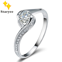 3 0CT Effect Certified Round Cut VVS H Cluster Style Real 18K Pure White Gold Moissanite