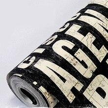 Letter wallpaper nostalgic vintage black brief fashion personalized