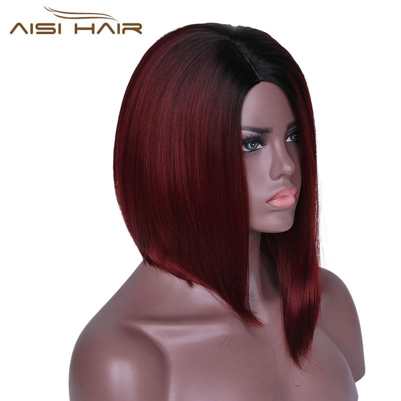 Είμαι μια περούκα Ombre κόκκινο Bob - Συνθετικά μαλλιά - Φωτογραφία 4