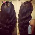 BQ HAIR Mink Peruvian Human Hair Body Wave Ear to Ear 360 Lace Frontal Perruque Cheveux Humain Best Quality on Aliexpress #1B