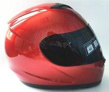 VERMELHO Da Motocicleta rosto cheio capacete Snowmobile ATV Motor de Moto de Rua Moto Equitação Corrida com Clara para a temporada de inverno