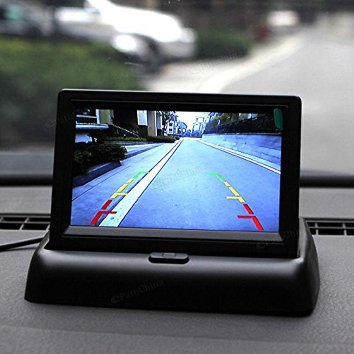 4 3 Inch 480 x 272 Resolution 2 channel Input Car Rear View Monitor 420 TVL 18mm Lens Reverse Camera in Vehicle Camera from Automobiles Motorcycles