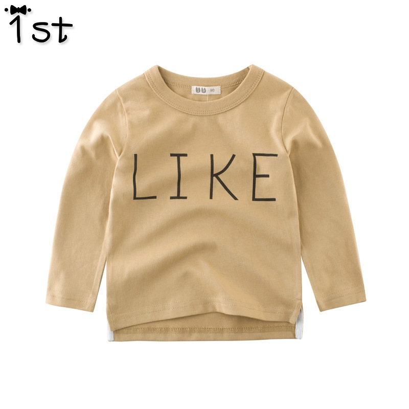 T-Shirts Blouse Long-Sleeved Autumn Baby Boys' Cotton Children's 1st-Wear 1a Round-Neck