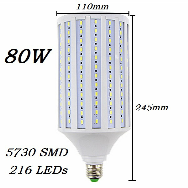 led lampada 40w 50w 60w 80w 100w led lamp 5730smd e27 e40 e26 b22 110v 220v corn bulb pendant. Black Bedroom Furniture Sets. Home Design Ideas