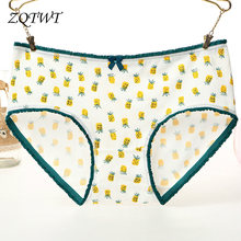 ZQTWT 2018 Summer Women Panties Cotton Girl Briefs Ladies Underwear Pineapple Print Sexy Lingirie Female Underpants J3NK076(China)
