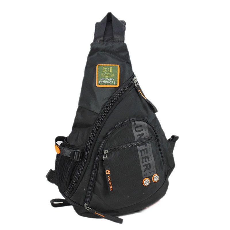 High Quality Waterproof Nylon Men Single Shoulder Bag Military Travel Sling Chest Back pack Messenger Bags
