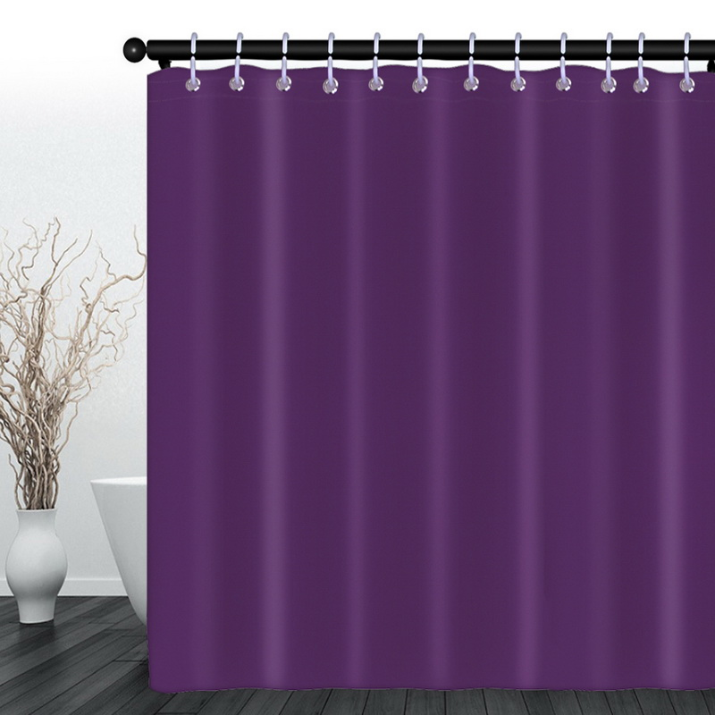 Details About Bathroom Purple Shower Curtains For Bath Waterproof Fabric Liner Solid