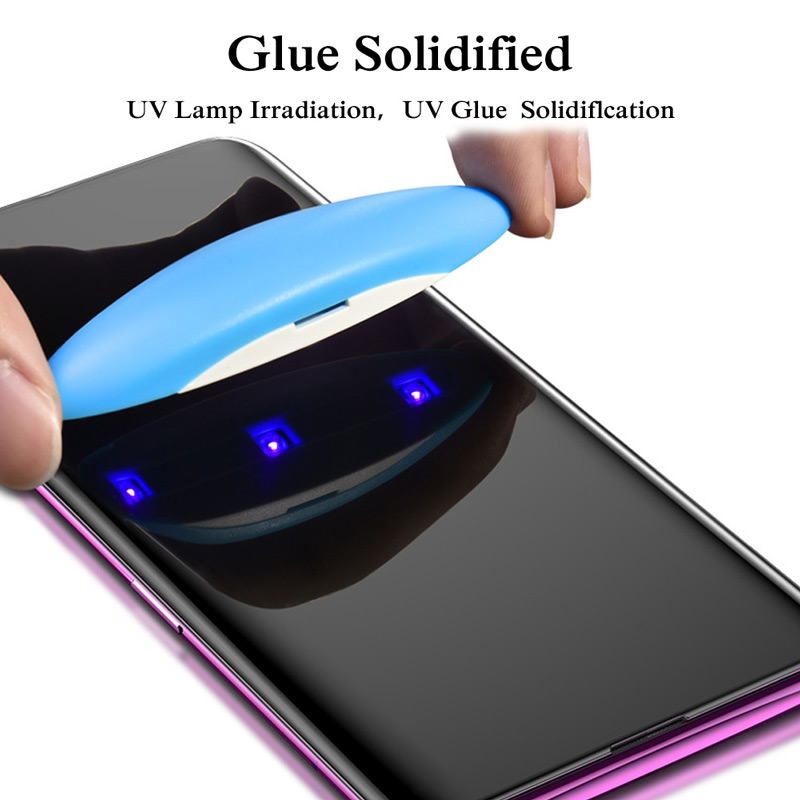 Image 3 - UV Glue Screen Protector For Huawei Mate 20 Pro Lite  Tempered Glass Full Cover For Huawei P30 Pro P30 UV Liquid Protector-in Phone Screen Protectors from Cellphones & Telecommunications