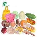 Niños cocina comida toys pez de madera frutas y verduras niños encantadores de madera toys play house cumpleaños niño oyuncak
