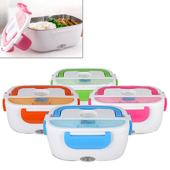 Portable Electric 12V Heated Lunch Box Bento Boxes Auto Car Food Rice Container Warmer For School Office Home Dinnerware image