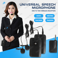 Teaching Lapel clip wireless microphone Portable chargeable loudspeaker Amplifier Receiver for Tour Guide stage External Voice