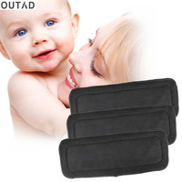 OUTAD 5 Pcs Set Reusable 4 Layers Of Bamboo Charcoal Insert Soft Baby Cloth Nappy Diaper